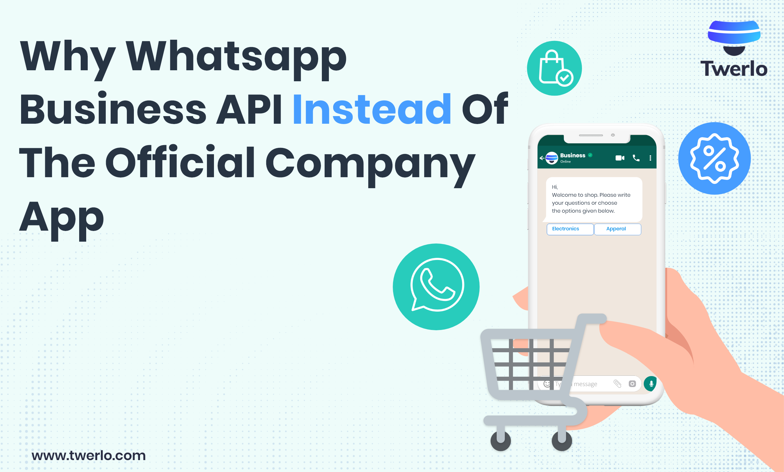 Why WhatsApp Business API instead of the official company app