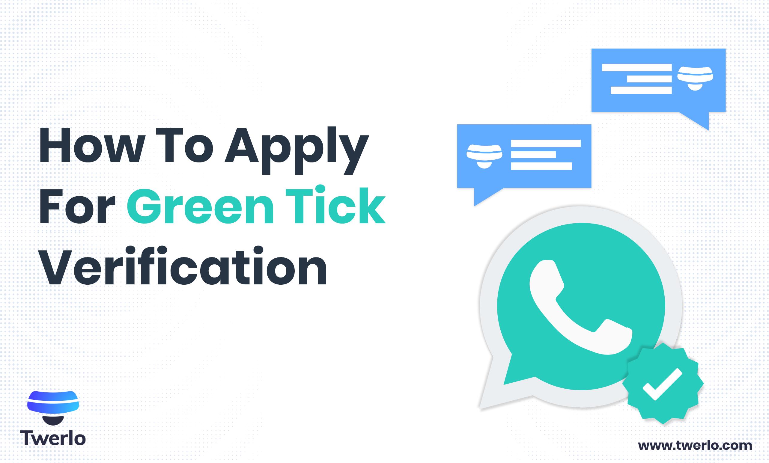 Whatsapp Green verification